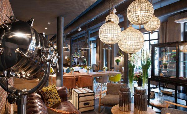 hotel fabric lobby